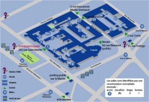 Plan d'accès au Cnam