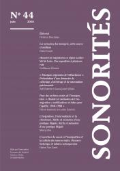 Couverture de la revue Sonorités- bulletin de l Afas numero 44